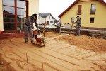 Konieczny materiał na budowie budynku
