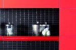 Nowoczesna łazienka to połączenie szarych kolorów z soczystą czerwienią
